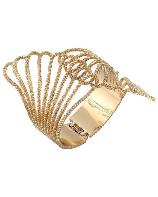 Guess - Metallic Fan Hinge Cuff (gold) Bracelet - Lyst