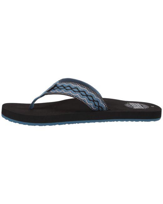 bceedc52da55 ... Lyst Reef - Blue Smoothy (black) Men s Sandals for Men ...