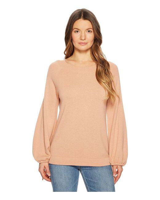 Vince - Natural Scrunch Sleeve Top (blush) Women's Long Sleeve Pullover - Lyst