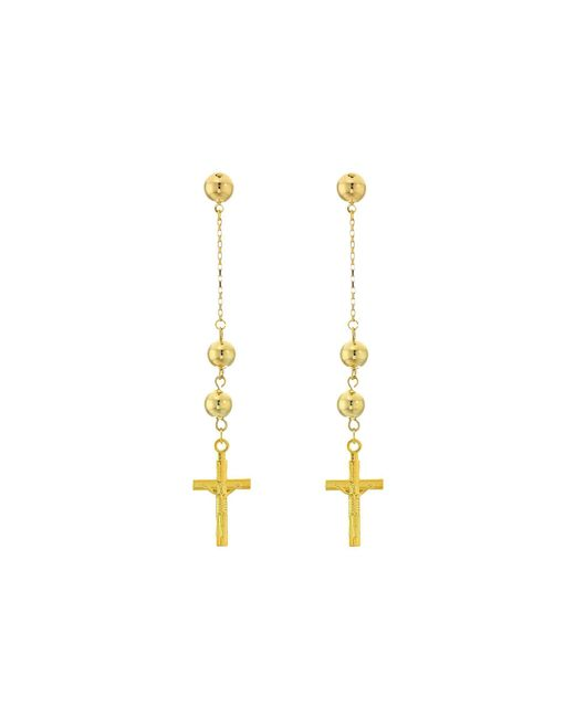 Vanessa Mooney - Metallic The Faith Cross Earrings - Lyst