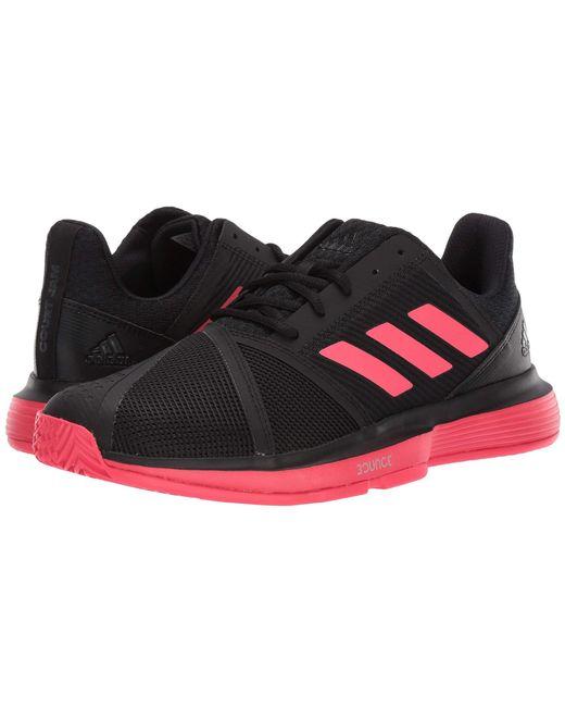 6e4cca51edd7b9 Adidas - Courtjam Bounce (core Black shock Red footwear White) Men s Shoes  ...