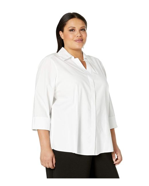 0d3b75c699add4 ... Foxcroft - Plus Taylor Pinpoint Non Iron (white) Women's Clothing - Lyst