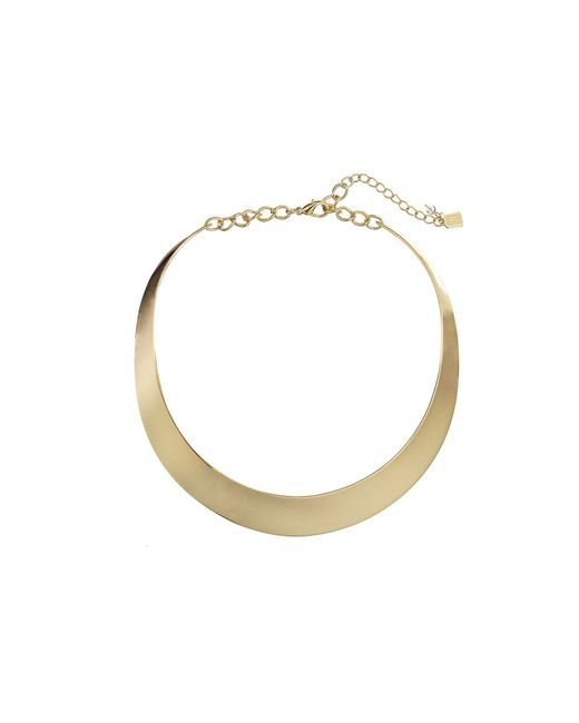Robert Lee Morris | Metallic Half Moon Collar Necklace | Lyst