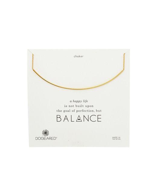 Dogeared - Metallic Balance Delicate Bar Choker Necklace - Lyst