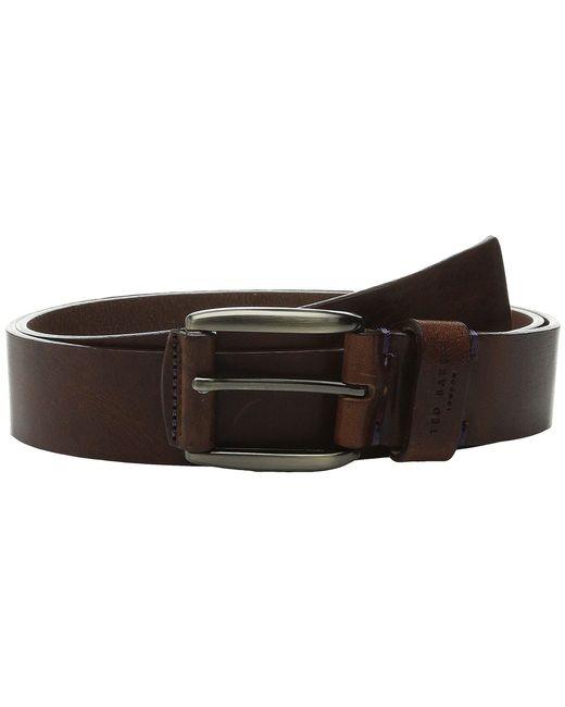 Ted Baker - Brown Jeebelt Textured Leather Jean Belt for Men - Lyst