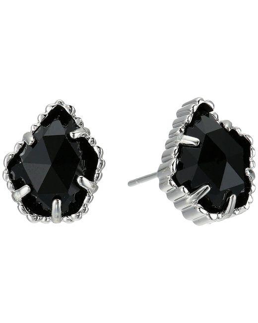 Kendra Scott - Tessa Earring (rhodium/black Mother Of Pearl) Earring - Lyst