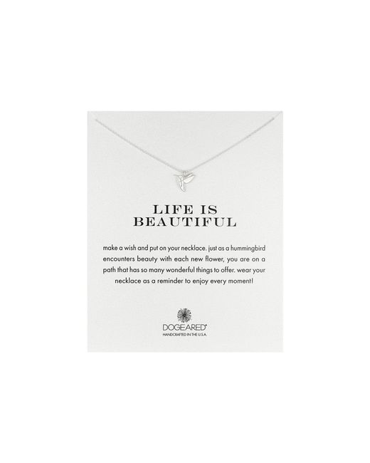 Dogeared | Metallic Life Is Beautiful Hummingbird Reminder | Lyst