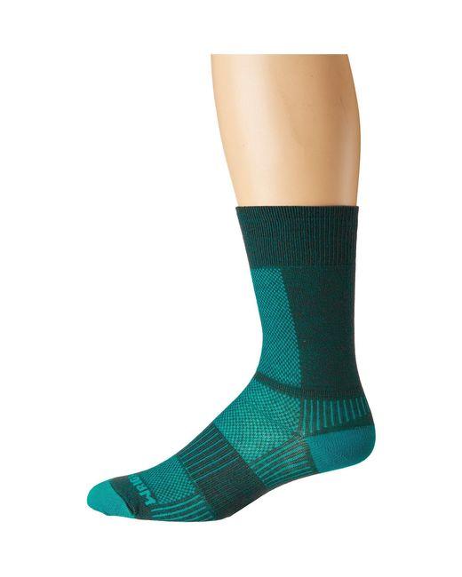 Wrightsock - Green Coolmesh Ii Crew (patriotic Flag) Crew Cut Socks Shoes - Lyst