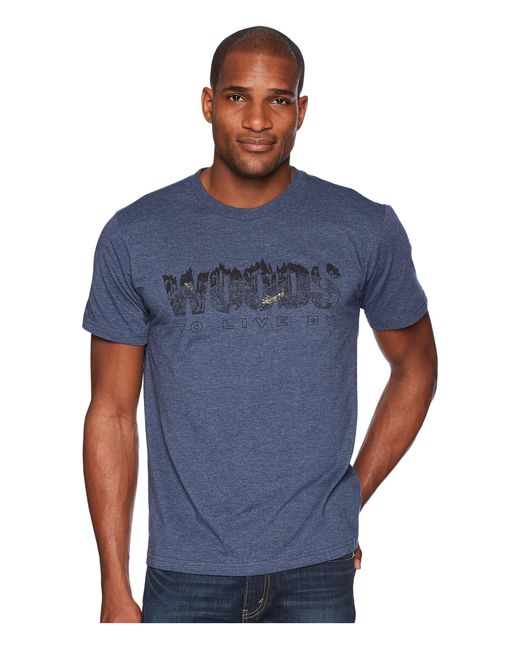 Toad&Co - Blue Woods To Live By Short Sleeve Tee (natural Heather) Men's T Shirt for Men - Lyst