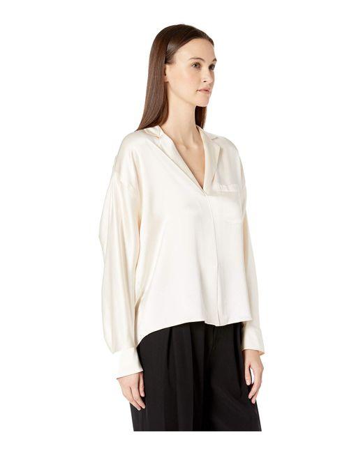 a5f67accf0584 ... Lyst Vince - White Pajama Popover (chiffon) Women s Blouse ...