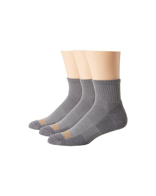 Timberland - Gray 3 Pack Pro Low Quarter Cool Touch Blend Sock for Men - Lyst