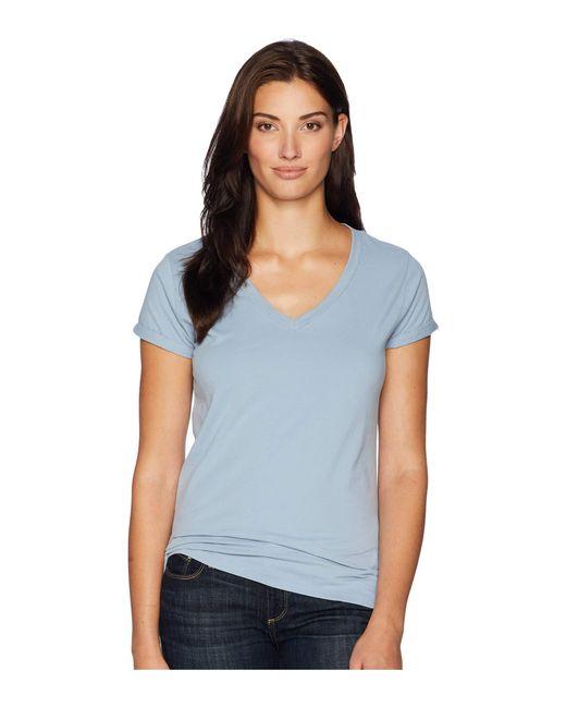 Dylan By True Grit - Blue Effortless Short Sleeve V Tee (denim) Women's T Shirt - Lyst