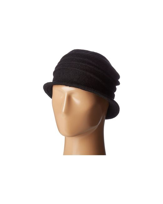 San Diego Hat Company   Black Cth8089 Soft Knit Cloche With Accordion Detail   Lyst