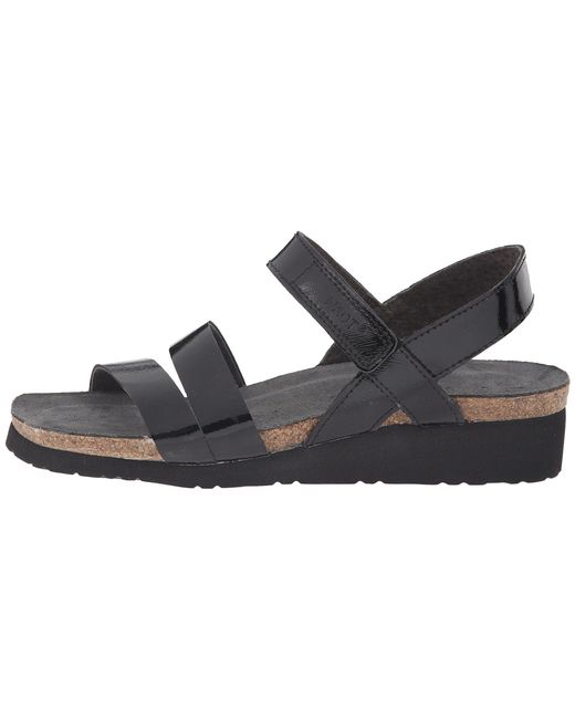 074bffb0c351 ... Lyst Naot - Multicolor Kayla (black Luster Leather) Women s Sandals ...
