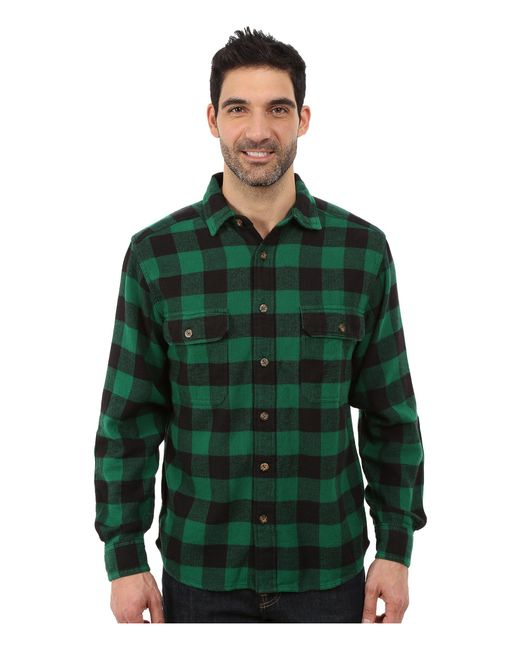 Woolrich | Green Oxbow Bend Flannel Shirt for Men | Lyst