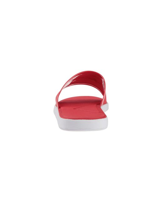 0e46786a7770 Lyst - Lacoste L.30 Slide 218 1 (red white) Men s Slide Shoes in Red ...