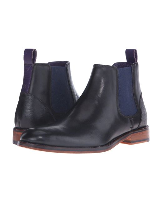 b2a31dbd6 Lyst - Ted Baker Camroon 4 (black Leather) Men s Pull-on Boots in ...