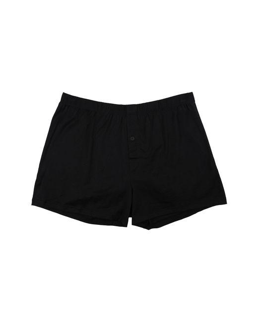 2ddc41be42b Hanro - Black Cotton Sporty Knit Boxer (midnight Navy) Men s Underwear for  Men ...