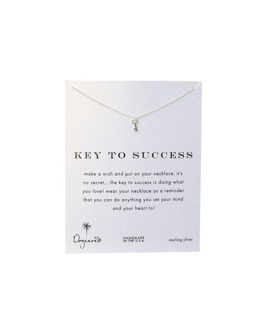 Dogeared | Metallic Key To Success Necklace 16"