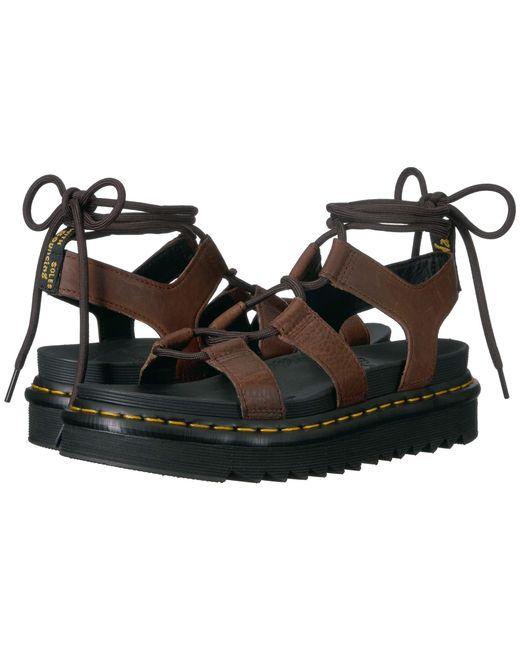 b3c28a6cde52 Lyst martens nartilla dark brown grizzly women sandals jpg 520x650 Dark  brown womens sandals