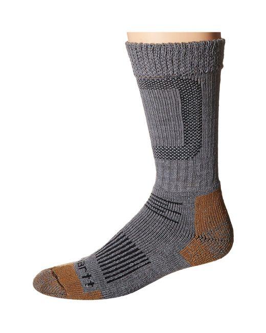 Carhartt - Merino Wool Comfort Stretch Steel Toe Socks 1-pair Pack (heather Gray) Men's Crew Cut Socks Shoes for Men - Lyst