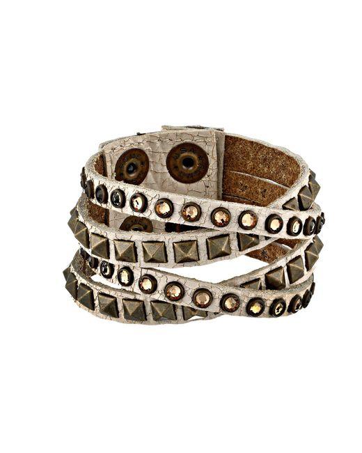 Leatherock - Brown B340 (vintage Black) Bracelet - Lyst
