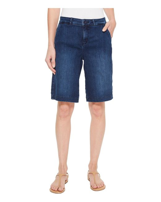 NYDJ - Blue Bermuda Shorts In Cooper - Lyst