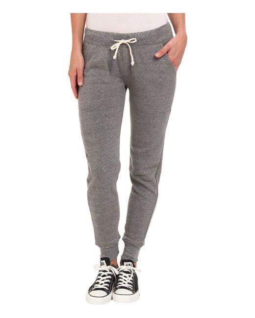 Alternative Apparel - Gray Eco Fleece Jogger Pant (eco Black) Women's Casual Pants - Lyst