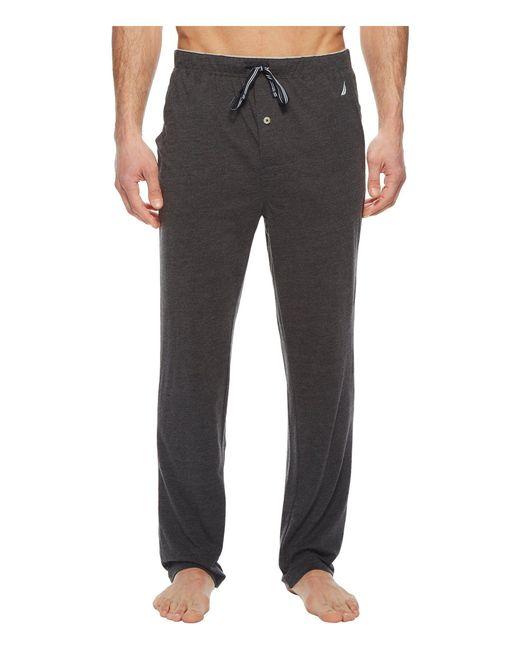 b642e029572e Lyst - Nautica Knit Sleep Pants (grey Heather) Men s Pajama in Gray ...