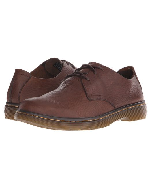 Dr. Martens - Brown Elsfield 3-eye Shoe for Men - Lyst
