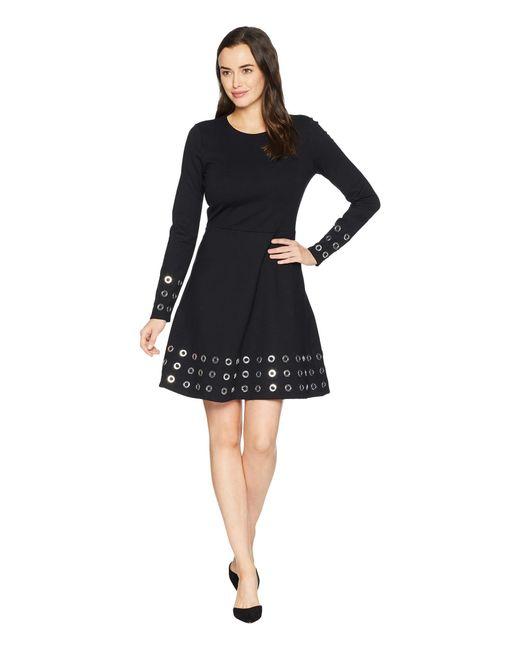 MICHAEL Michael Kors - Grommet Embellished Flare Dress (black) Women's Dress - Lyst
