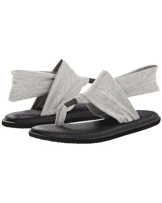 Sanuk - Gray Yoga Sling 2 (charcoal) Women's Sandals - Lyst