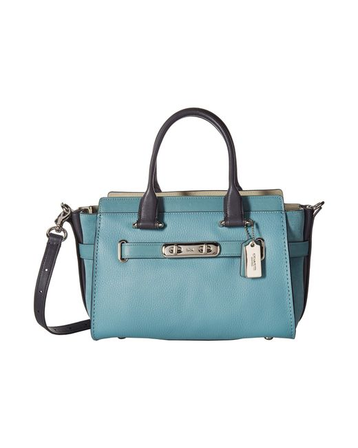 COACH - Blue Swagger 27 In Colorblock - Lyst