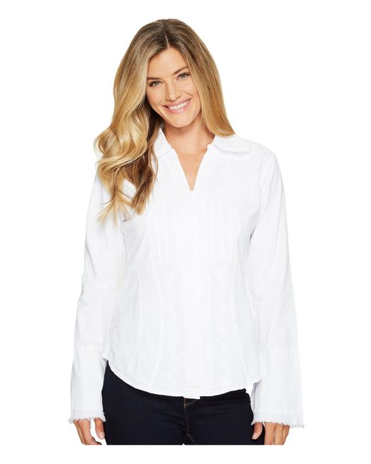 Scully | White Cantina Yadira Peruvian Cotton Top | Lyst
