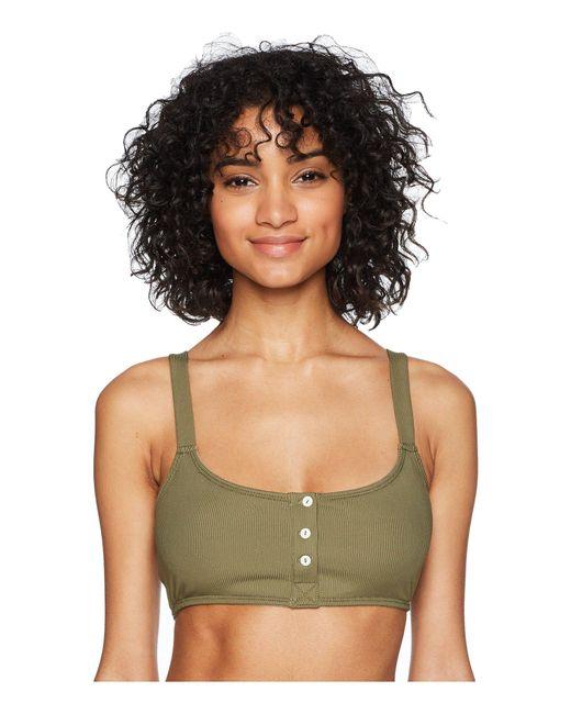 Free People - Green Remi Soft Bra (moss) Women's Bra - Lyst
