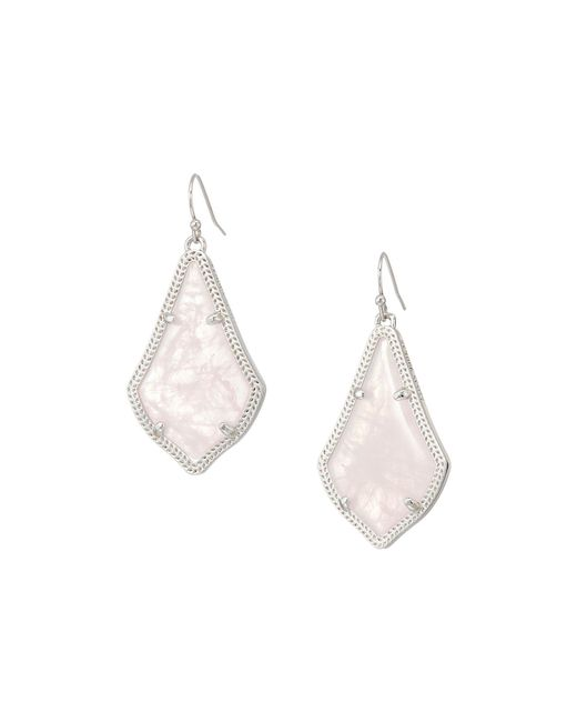 Kendra Scott - Multicolor Alex Earring (rhodium/rose Quartz) Earring - Lyst