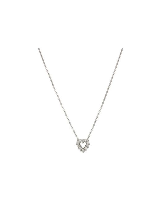 Roberto Coin - Metallic Tiny Treasures Heart Necklace (white) Necklace - Lyst