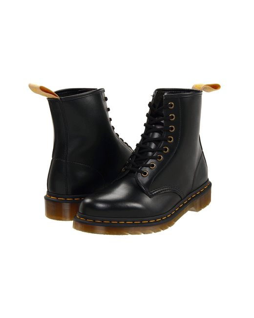 Dr. Martens - Black 1460 Vegan 8-eye Boot (cherry Red Cambridge Brush) Lace-up Boots - Lyst