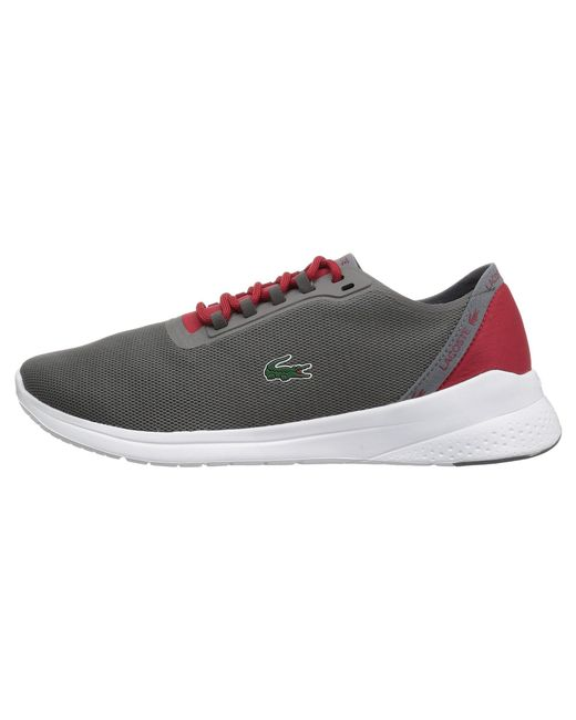 0c0bc97fd16ad Lyst - Lacoste Lt Fit 118 4 (dark Grey red) Men s Shoes in Gray for Men