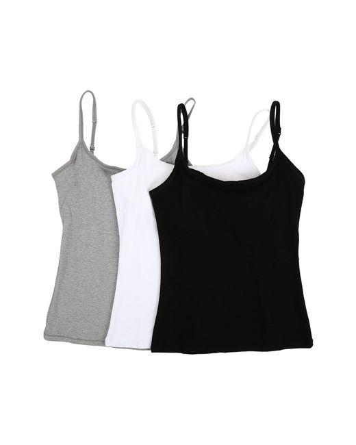 Lyst Pact Everyday Camisole W Shelf Bra 3 Pack Multi