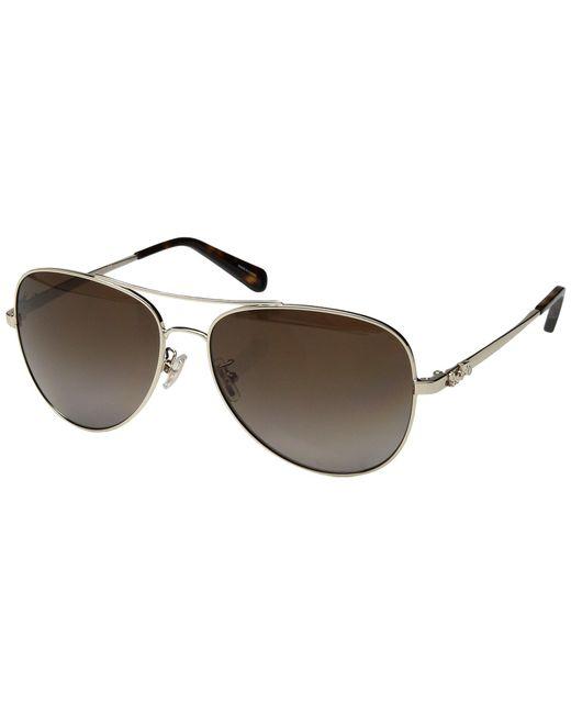 COACH - Brown 0hc7074 (rose Gold/rose Gold Mirror) Fashion Sunglasses - Lyst