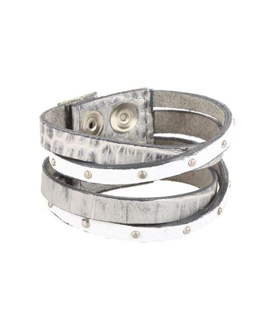 Leatherock - Metallic B453 (jade) Bracelet - Lyst