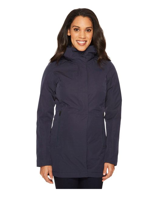 The North Face - Blue Insulated Ancha Parka Ii (tnf Black) Women's Coat - Lyst