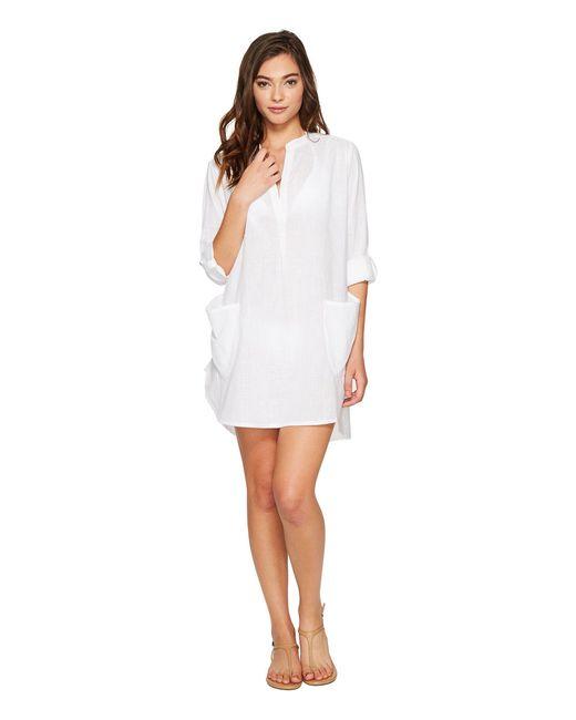 Seafolly - White Boyfriend Beach Shirt - Lyst