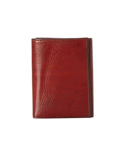 Bosca - Brown Old Leather Collection - Trifold Wallet (black Leather) Bill-fold Wallet for Men - Lyst