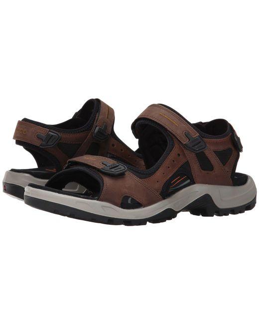 Ecco - Yucatan Sandal (bison/black/black) Men's Toe Open Shoes for Men - Lyst