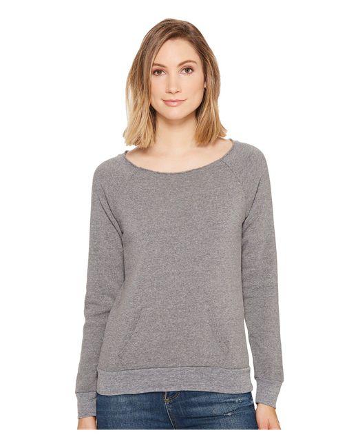 Alternative Apparel - Gray The Maniac Eco-fleece Sweatshirt - Lyst