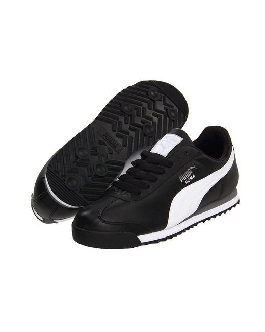 PUMA - Roma Basic (black/black) Men's Shoes for Men - Lyst