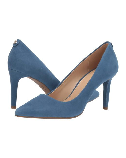 b44393686cea MICHAEL Michael Kors - Blue Dorothy Flex Pump (dark Khaki Vintage Leather)  Women s Shoes ...