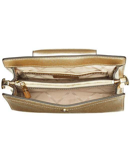 5f6fc99eb2cf ... MICHAEL Michael Kors - Metallic Medium Crossbody Clutch (ballet)  Handbags - Lyst ...